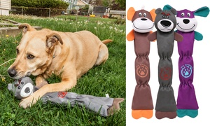 Pet Life Quilted Plush Squeak Chew Tugging Dog Toy