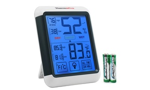 ThermoPro Touchscreen Indoor Humidity and Temperature Thermometer