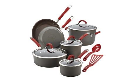 Rachael Ray Cucina Hard-Anodized Aluminum Nonstick Cookware Set, 12 c00068a1-8c6a-494c-9a99-a6bdd5252069