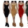 Women Sexy Strap Spaghetti Backless Velvet Bodycon Club Mini Dress