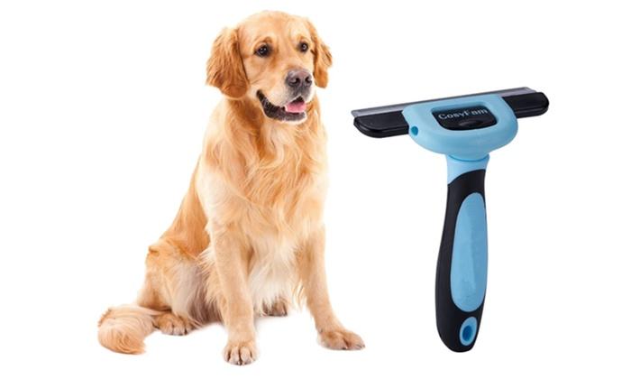 Dog Brush Cat Brush De Shedding Brush Grooming Tool Groupon