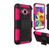 Insten Hard Hybrid For Samsung Galaxy Core Prime Black/hot Pink