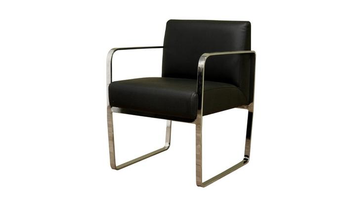 Meg Black Leather Chair Photo Gallery