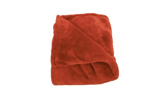 Woven Workz 078 066q Oh So Soft Blanket Pomegranate
