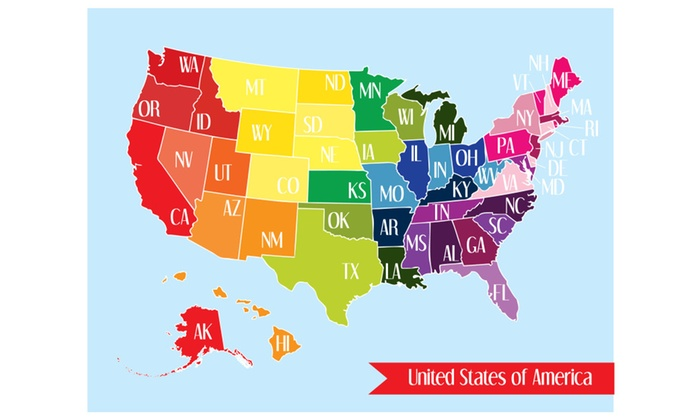 United States Map Nursery Art Travel Map US Map Print States - Travel map us