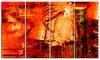 Abstract Fire Red - Abstract Metal Wall Art