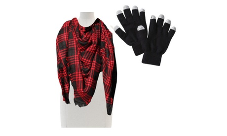 Shawl Scarf Cold Weather Protection With Touch Screen Gloves a86b9bf4-b1af-46a2-8338-2949145e3989