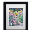 David Lloyd Glover 'Garden Path of Cosmos' Matted Black Framed Art
