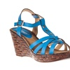 Riverberry Women's 'Brody' Strappy Platform Wedge Sandals, Blue