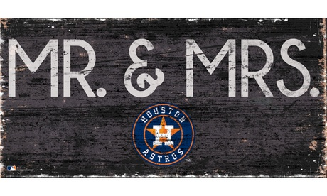 MLB Baseball Mr and Mrs Sign f9f9e9ba-ab36-4a55-a41e-751fa155455c