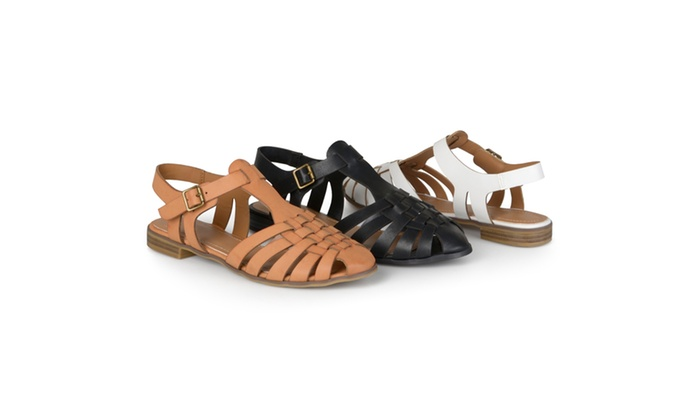 Journee Collection Womens Round Toe T-strap Sandals