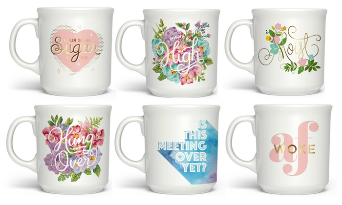up to 17 off on fred and friends printed mug groupon goods
