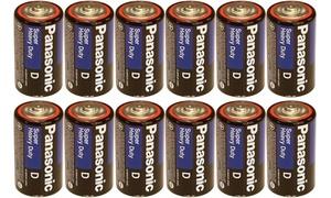 Panasonic Size D Super Heavy Duty Battery 24 PACK.
