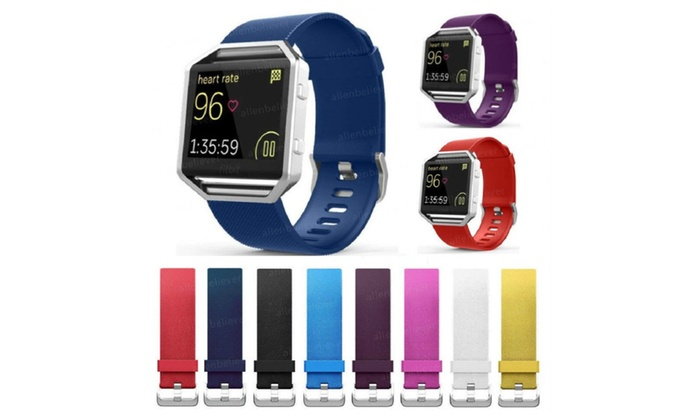 Replacement Silicone Rubber Band Strap Bracelet For Fitbit Blaze