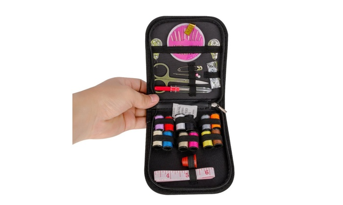 Mini Sewing Kit for Kids, Sewing Supplies with Scissors,  Needles