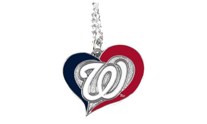 MLB Swirl Heart Necklace
