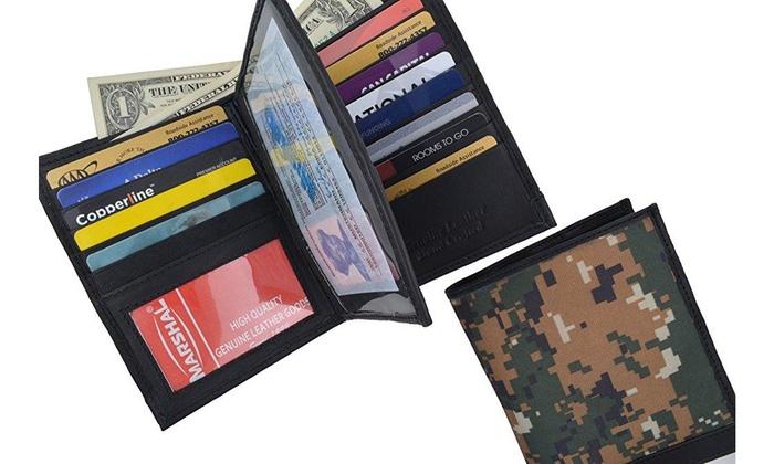0b460ff2879a RFID Blocking Camouflage Bifold Hipster Multi Credit Card ID Holder ...