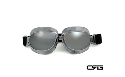 CRG Vintage Bike Aviator Style Motorcycle Cruiser Scooter Goggles T04SS