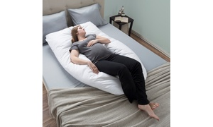 Full-Body Maternity Pillow with Contoured U-Shape by Lavish Home