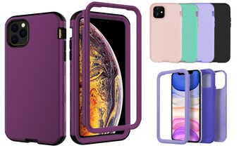 Heavy Duty 3 in 1 Silicone Shockproof Case For Apple iPhone 11,11 Pro,11 Pro Max