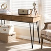 Toma Rustric Industrial Metal and Distressed Wood 2-drawer Storage Desk