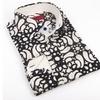 Elie Milano Italy Black Pattern Men's Shirt Ebsh206M