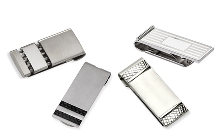 IceCarats Designer Jewelry Mens Stainless Steel Brushed Money Clips in Multiple Styles