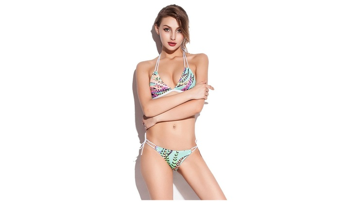 Womens Halter Swimsuit Bikini Sex Swimwear Beach Wear
