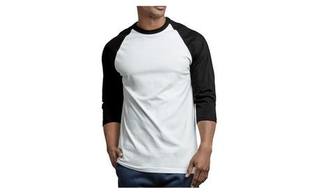 Mechaly Men Activewear 3/4 Sleeve Raglan Baseball Tee ee3a39b6-d3f8-4bb1-89f4-5147f68377b0