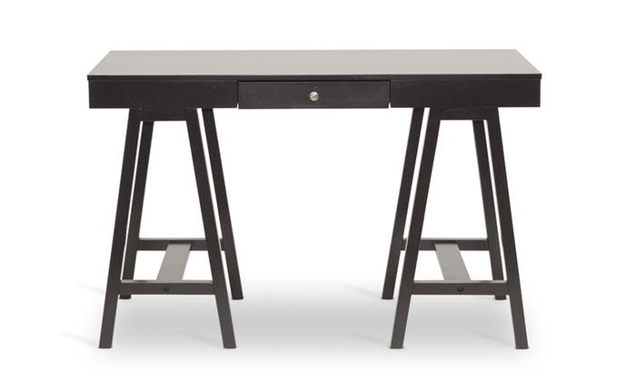 Arvada Dark Brown Modern Writing Desk