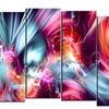 Take Me Over - Large Contemporary Canvas Art - 60x32 - 5 Panels