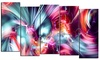 Groupon Goods: Take Me Over - Large Contemporary Canvas Art - 60x32 - 5 Panels