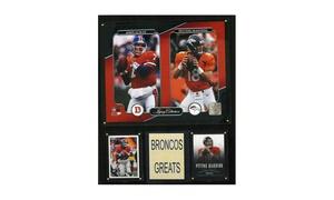 NFL John Elway-Peyton Manning Denver Broncos Legacy Collection Plaque