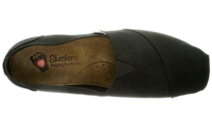 35483410ca09d BOBS from Skechers Earth Day Slip-On Flat Women's Shoes BLACK-NEW