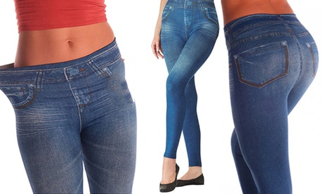 Slim N Lift Blue Jeans Leggins Tummy Shaper Trimmer 24c07137-40eb-4b51-9781-ac6ef287c7fe