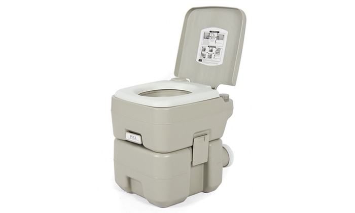 Portable Camping Toilet : Up to 56% off on portable camping toilet flush groupon goods