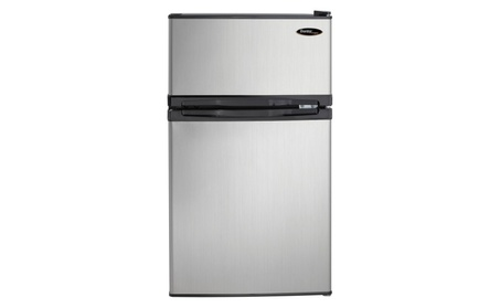 Danby DCR031B1BSLDD 3.1 cu. ft. 2 Door Compact Refrigerator, Steel photo