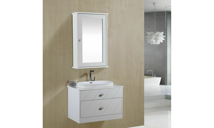 Up To 24 Off On Costway Bathroom Wall Cabinet Groupon Goods