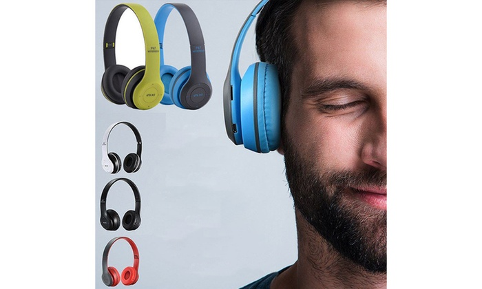 Up To 87 Off On P47 On Ear Wireless Bluetooth Groupon Goods