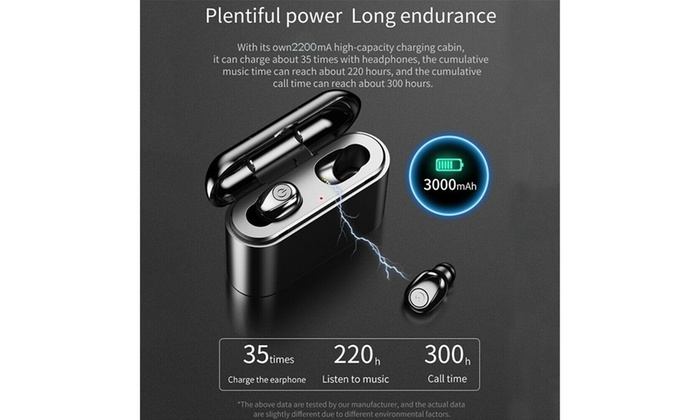 Up To 89 Off On Bluetooth 5 0 Tws Dual Mini E Groupon Goods