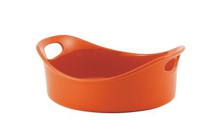Rachael Ray Stoneware 3Qt Round Baker Orange 2a7955b0-5900-421d-b407-c6751cfbe23c
