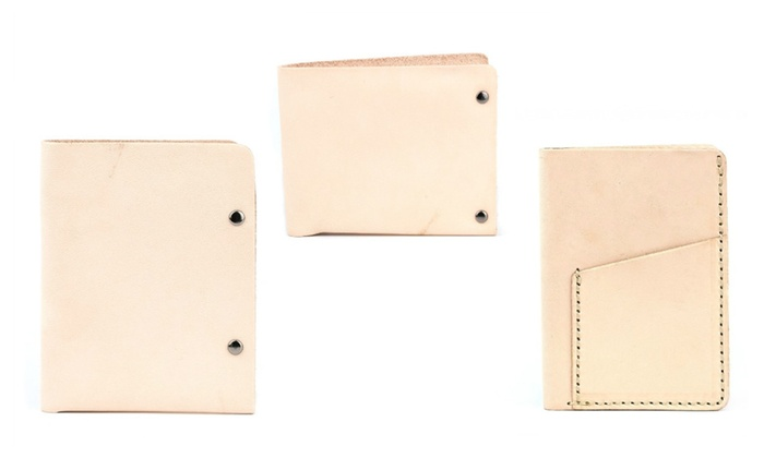 Men's All Natural Full Grain Leather Wallets