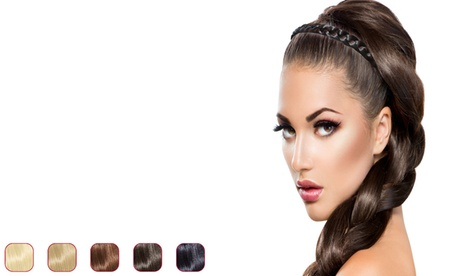 Flat braid headband hair extensions - flat braid hair extension hair band