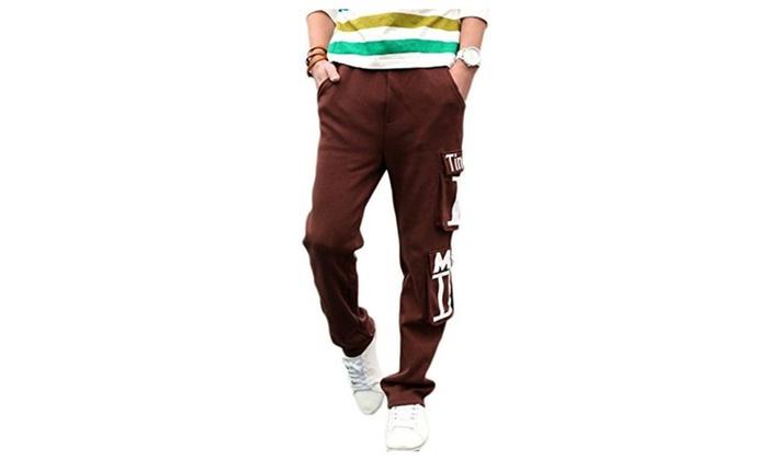 JIES Casual Loose Men's Baggy Jogging Sports Pants