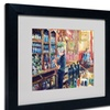 Richard Wallich 'Fullers 2' Matted Black Framed Art