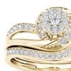 10k Yellow Gold 1/3 CTW Diamond Cluster Bridal Set (H-I, I2)