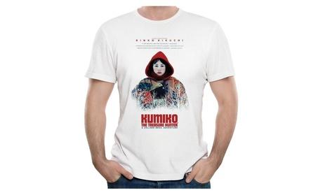 Kumiko The Treasure Hunter Cool Poster T Shirts Mens White b09aa0d6-ed45-40fd-bd30-a71d4cd0134d
