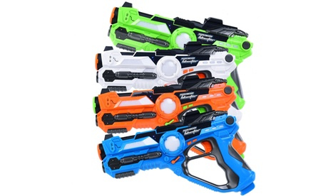 Set of 4 Infrared Laser Tag Guns Indoor Outdoor 4 Players Team Group