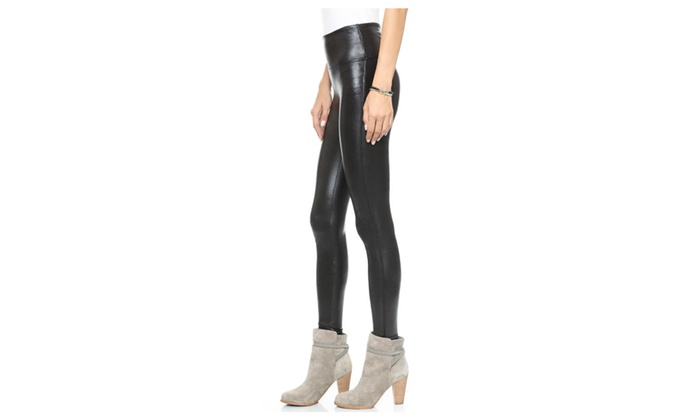 de23efbbd22f0f Spanx Ready-To-Wow Faux-Leather Ankle Leggings Slimming Black 2437 ...