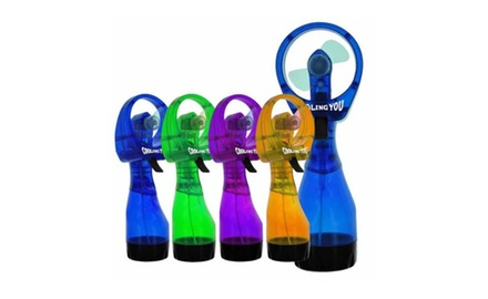 Portable and Chic Water Spray Fan - Assorted Colors